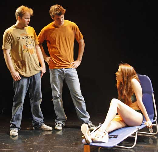 Andy Powers, Shane McRae and Emily Tremaine in IF I HAD. Photo by Carol Rosegg. Summer Shorts 2009.