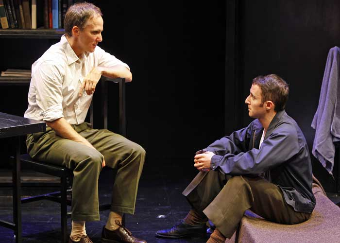 Neal Huff and J.J. Kandel in THE KILLING. Photo by Carol Rosegg. Summer Shorts 2009.