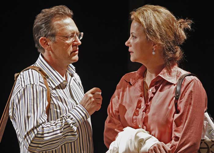 Victor Slezak and Margaret Colin in A SECOND OF PLEASURE. Photo by Carol Rosegg. Summer Shorts 2009.