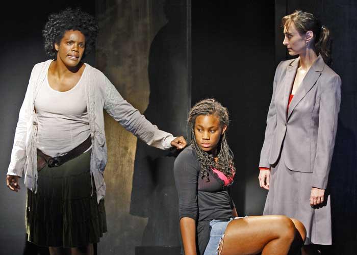 Rosalyn Coleman, Clara Hopkins Daniels and Jamie Watkins in THE SIN EATER. Photo by Carol Rosegg. Summer Shorts 2009.