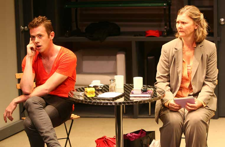 Nick Westrate and Sherry Anderson in PEOPLESPEAK. Photo by Carol Rosegg. Summer Shorts 2008.
