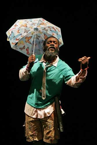 Iyaba Ibo Mandingo in THE EXPENSES OF RAIN. Photo by Ari Mintz. Summer Shorts 2010.