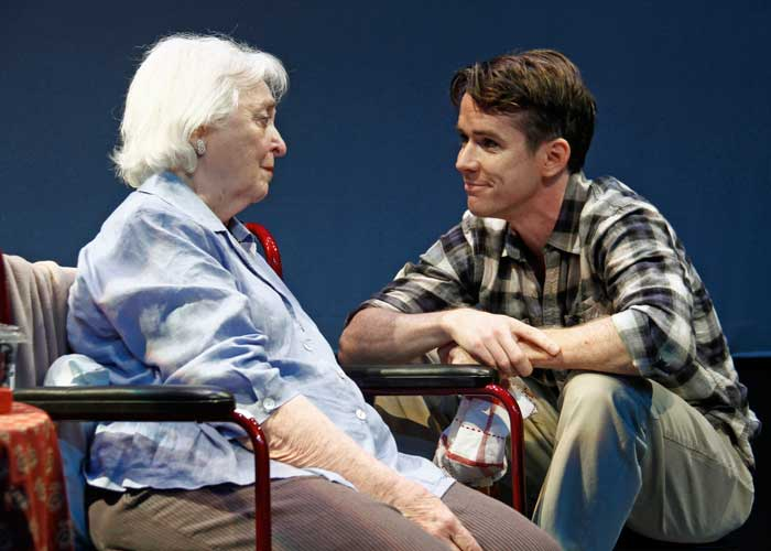 Rebecca Schull and Christian Campbell in THE GREEN BOOK. Photo by Rahav Segev. Summer Shorts 2011.