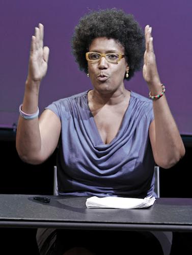 Nancy Giles in ACCIDENTAL PUNDETTE. Photo by Rahav Segev. Summer Shorts 2012.