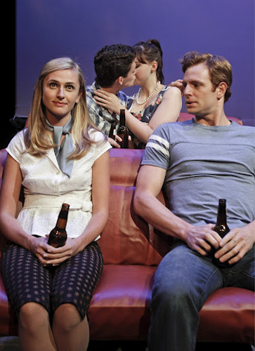 Erin Darke, Connor Buckley, Megan Ketch, and Nick Gehlfuss in DRIVE-IN DREAMS. Photo by Rahav Segev. Summer Shorts 2012.