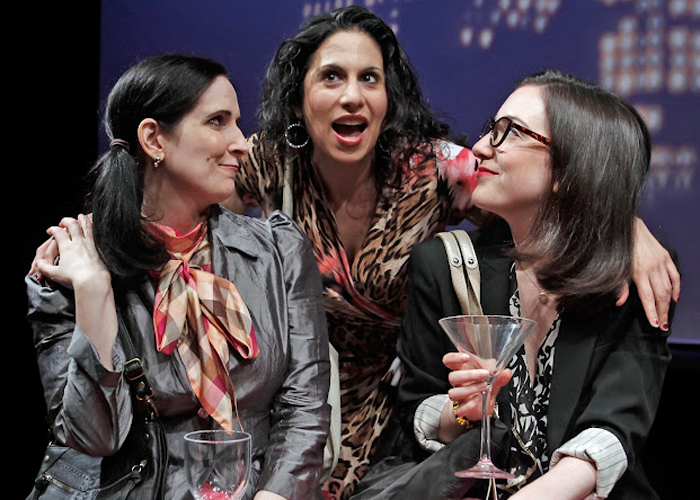 Stephanie D'Abruzzo, Sarah Corey and Jessica Hershberg in LOVE AND REAL ESTATE. Photo by Rahav Segev. Summer Shorts 2012.