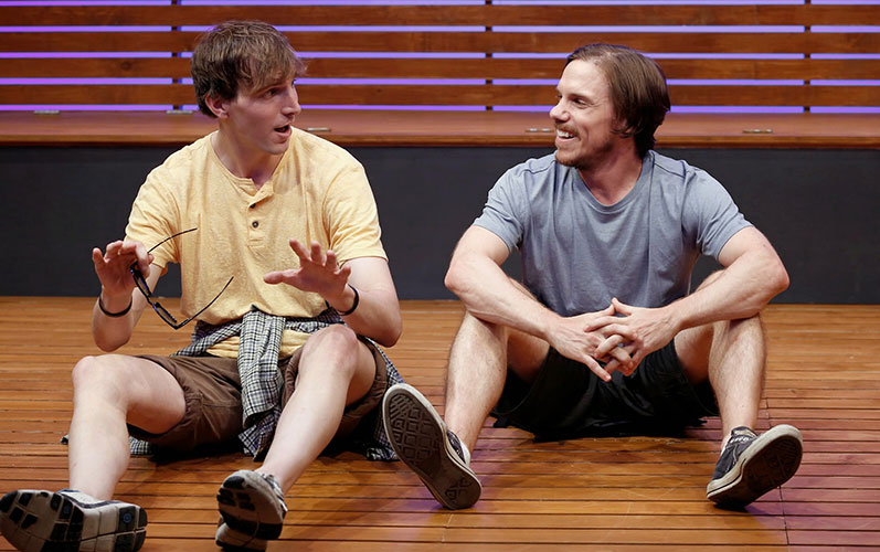 Alex Breaux and Shane Patrick Kearns in THE SKY AND THE LIMIT. Photo by Carol Rosegg. Summer Shorts 2014.