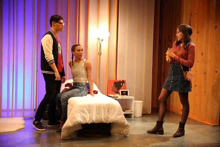 Ruy Iskandar, Suzette Azariah Gunn and Francesca Carpanini in BLACK FLAG by Idris Goodwin, directed by Logan Vaughn, part of SUMMER SHORTS 2016, Series B at 59E59 Theaters. Photo by Carol Rosegg