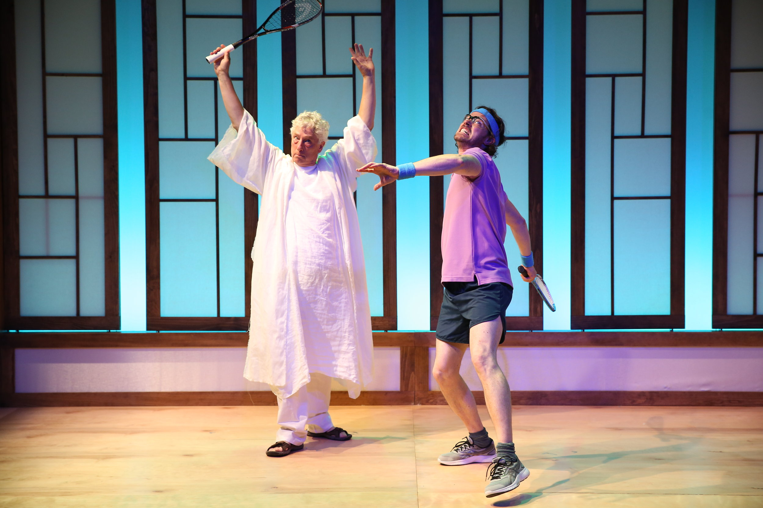 L-R: Bill Buell and Dana Watkins in PLAYING GOD by Alan Zweibel, part of Summer Shorts 2017 at 59E59 Theaters. Photo by Carol Rosegg