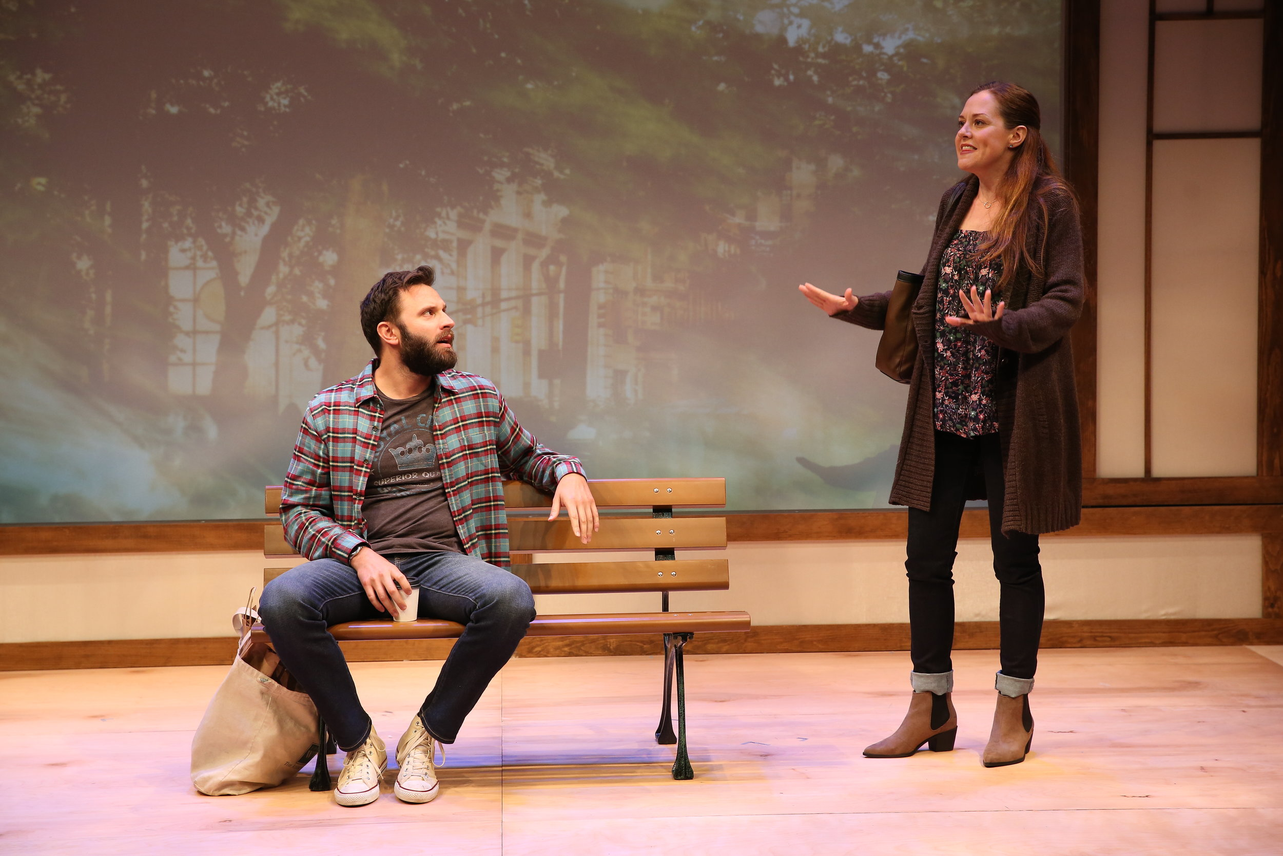 L-R: Quincy Dunn-Baker and Claire Karpen in JACK by Melissa Ross, part of Summer Shorts 2017 at 59E59 Theaters. Photo by Carol Rosegg