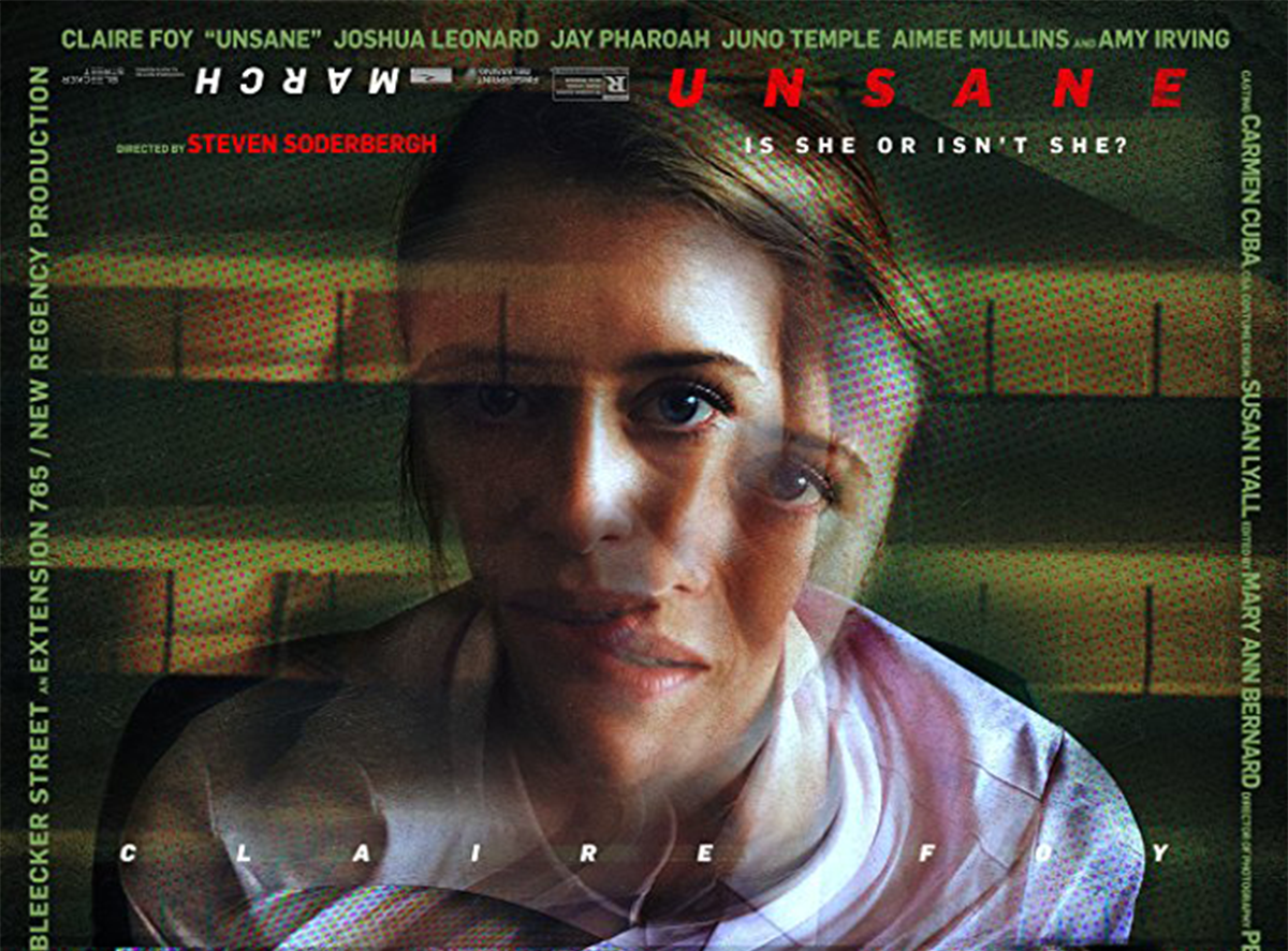 Steven Soderbergh's film  Unsane  is set to release in theaters March 23rd. The film stars Summer Shorts alum Amy Irving (SS' 08:  The Waters of March ).