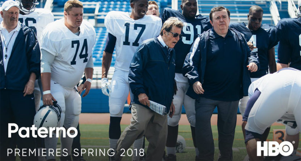 HBO's latest biopic  Paterno  is set to release early April 2018. The film features Summer Shorts alum Peter Jacobson (SS'14:  Sec 310, Row D, Seats 5 and 6 ).