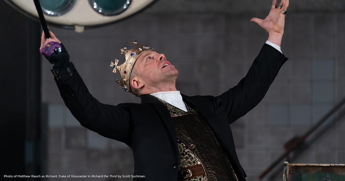 Shakespeare Theatre Company presents  Richard III , starring alum Matthew Rauch (SS'14:  Riverbed ). The production runs until March 10th. To purchase tickets, click  here .
