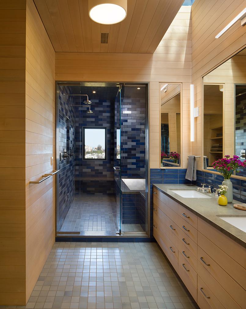 Master Bath Spa with Cedar