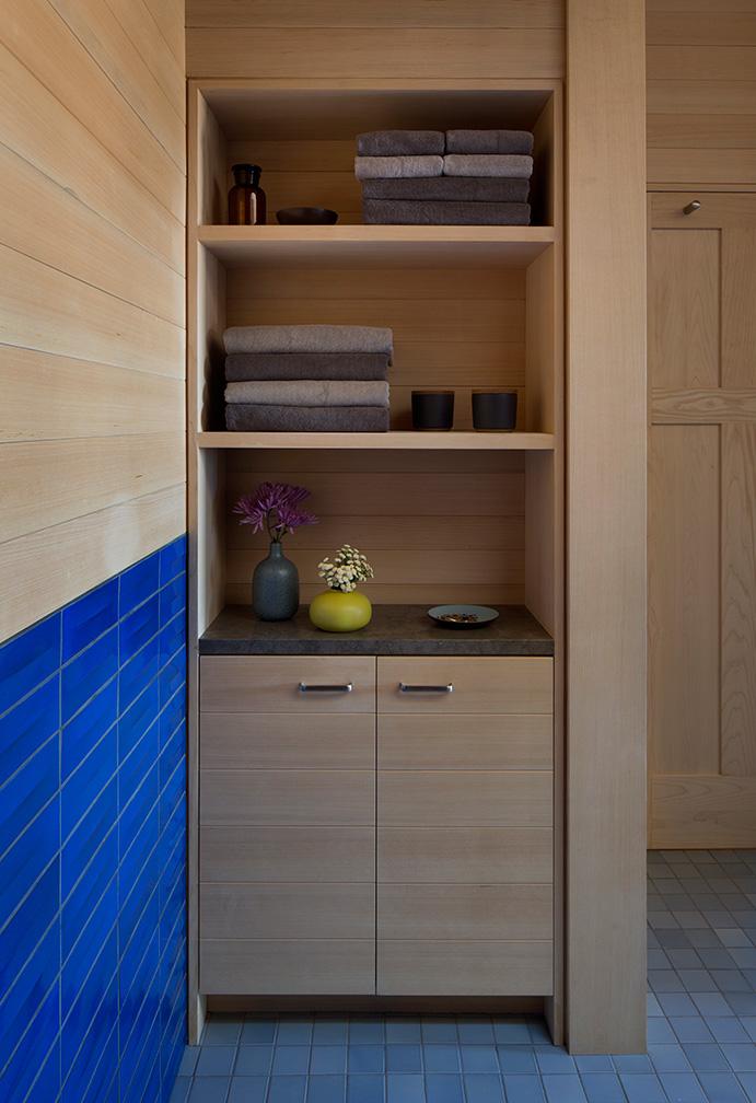 Master Bath Spa with Cedar Cabinet