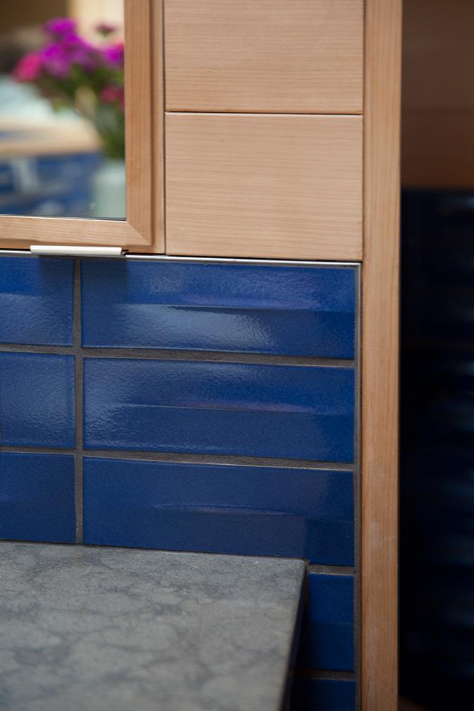 Master Bath Spa Tile & Cedar Detail