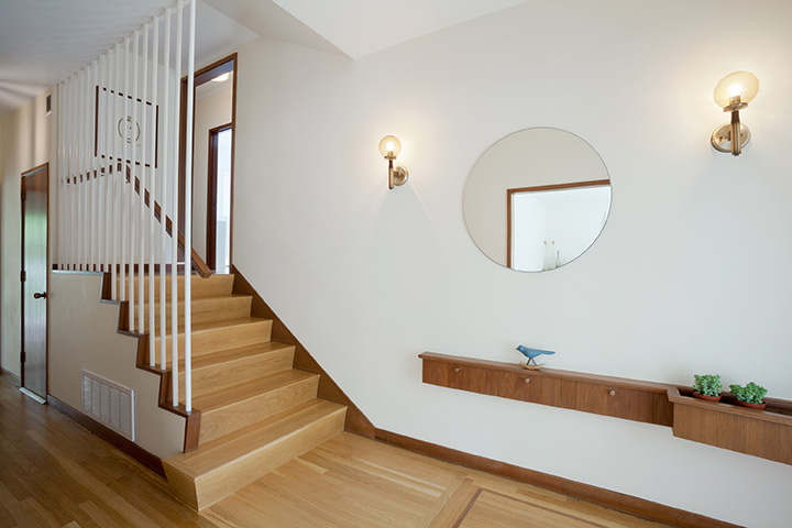 Mid-Century Modern Entry & Stairs