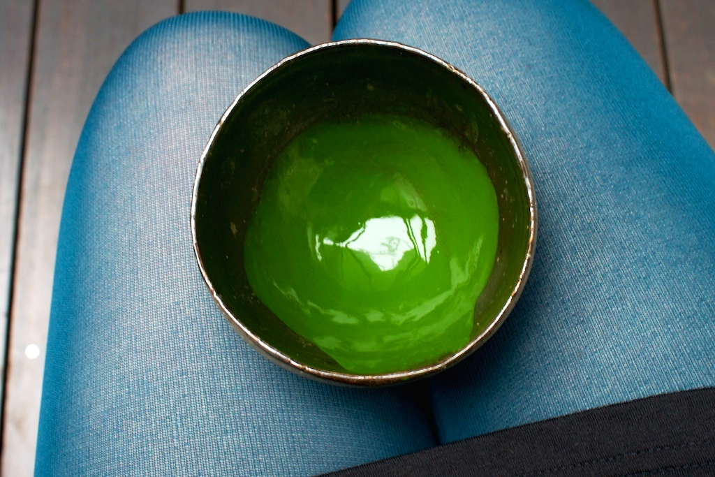 drinking amazing #matcha green tea in #Tokyo. so green, So Good! <3