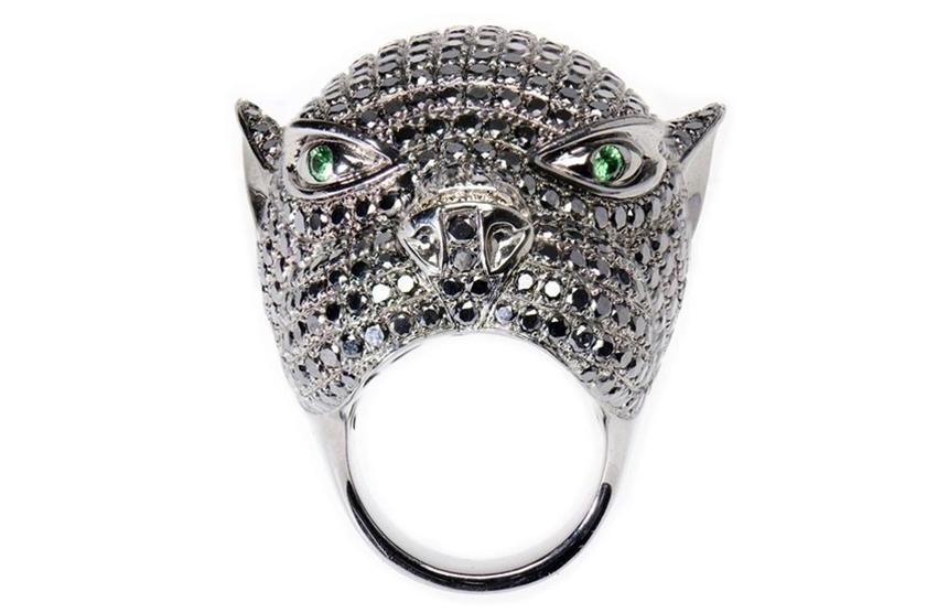 Tribal Art Panther Ring