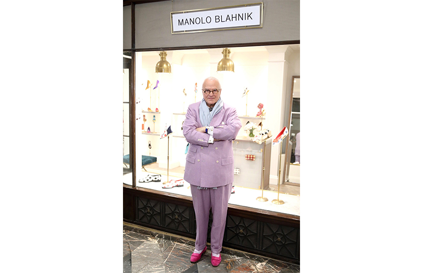The revered shoe designer outside his new boutique at 32-33 Burlington Arcade