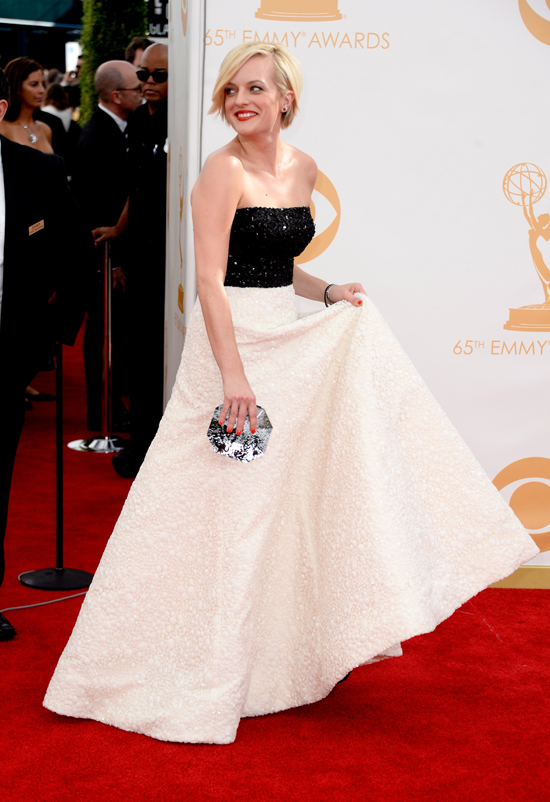 Mad Men Actress Elizabeth Moss at the 2013 Emmy Awards