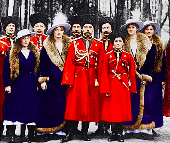 Tsar Nicholas II and his children (1916).