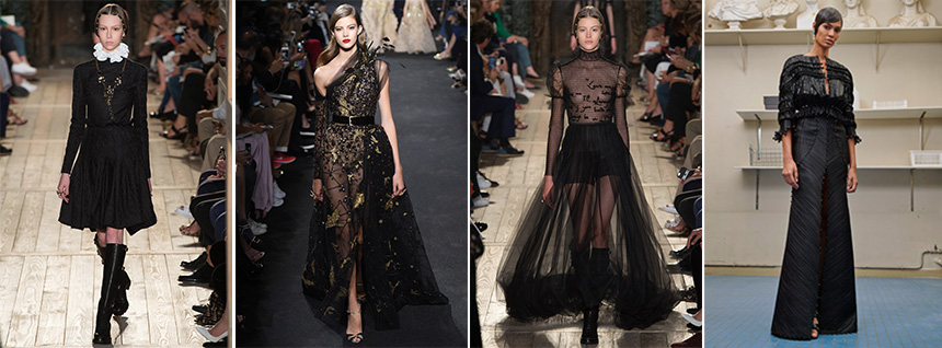 L-R: 1-3 Valentino, 2 Elie Saab, 4 Givenchy / Photos: vogue.com