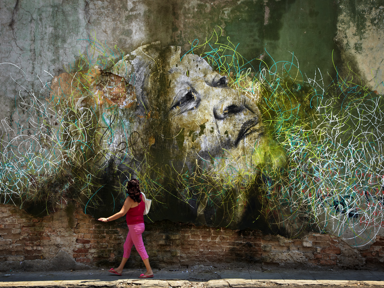 The Wrinkles of the City by José Parlá, Havana, Cuba