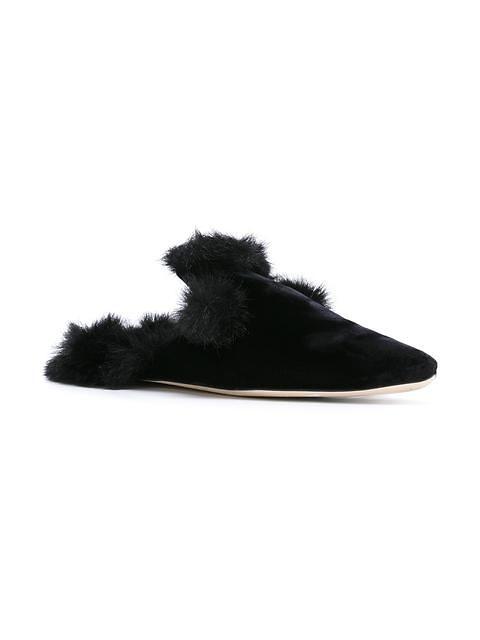 Contessa Fur Trim Slippers