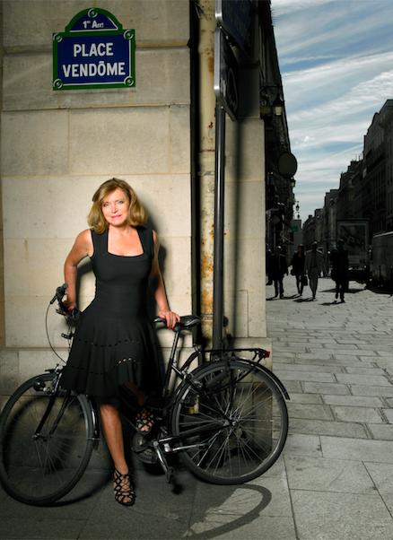 Lydia Courteille near her boutique in Paris