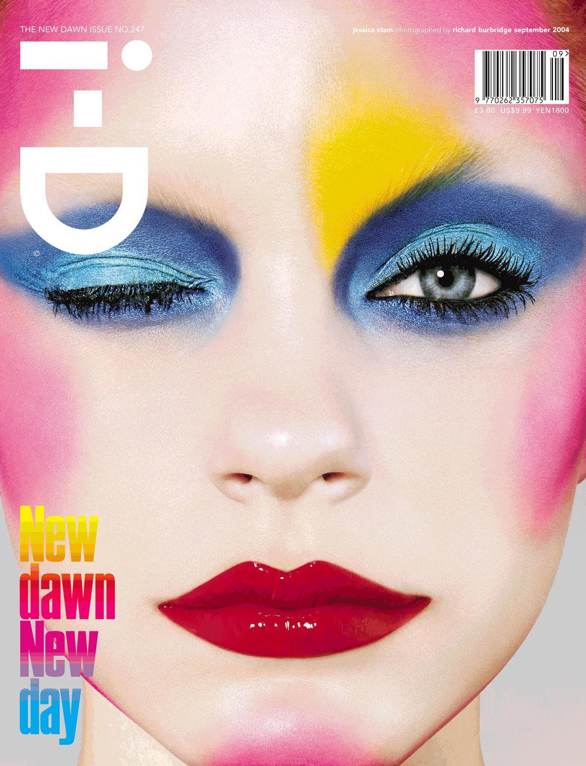 Jessica Stam by Richard Burbridge for i-D magazine, September 2004 / Make-up: Pat McGrath
