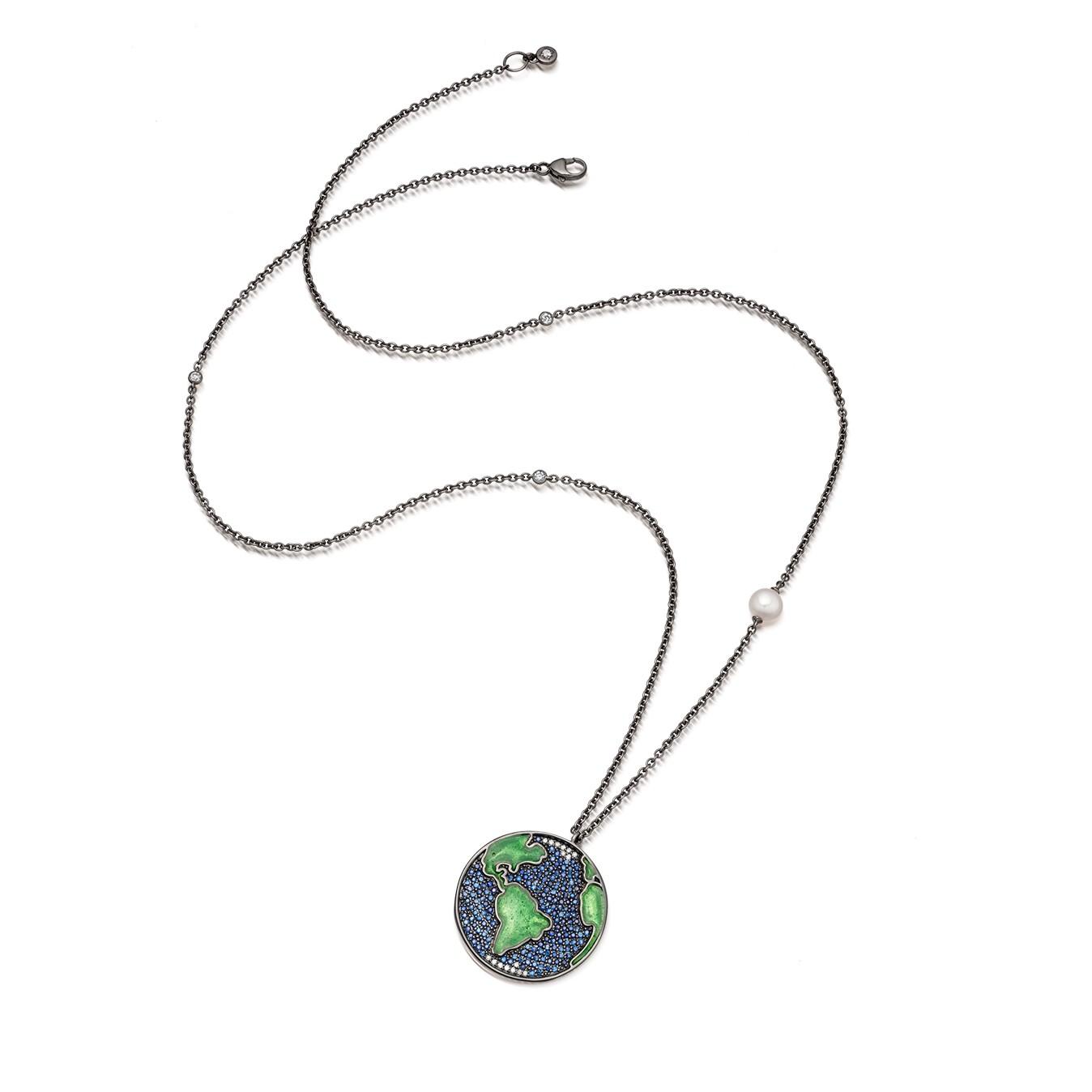 Astley Clarke Sapphire Western Earth Pendant by Dominic Jones