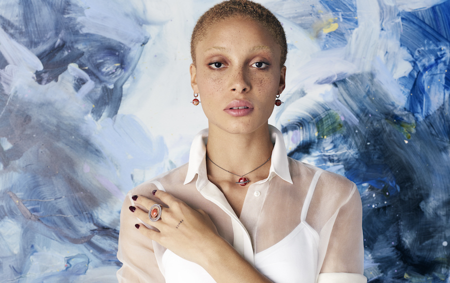 Adwoa Aboah modelling the Astronomy Collection.