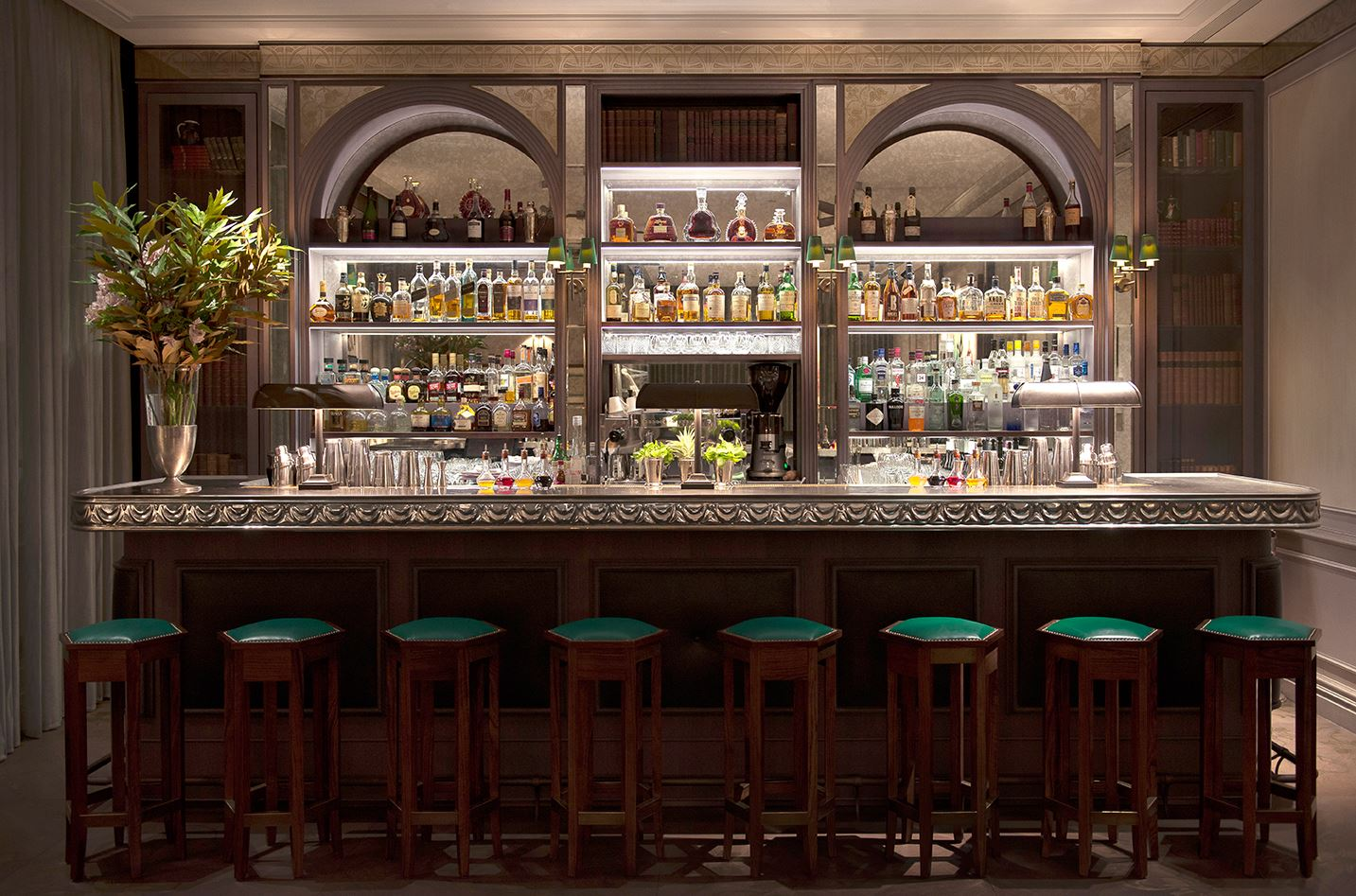 The 1940s style Library Bar.