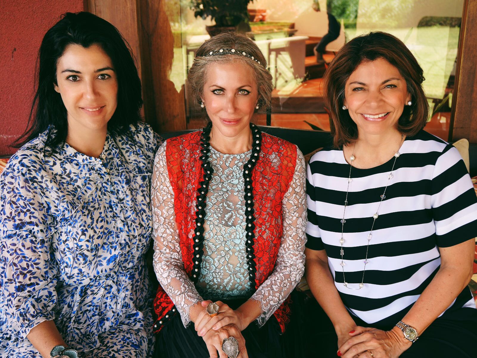 Carmen pictured with Costa Rica Fashion Summit CEO and founder Andrea Somma-Trejos and former Costa Rican president Laura Chinchilla Miranda.