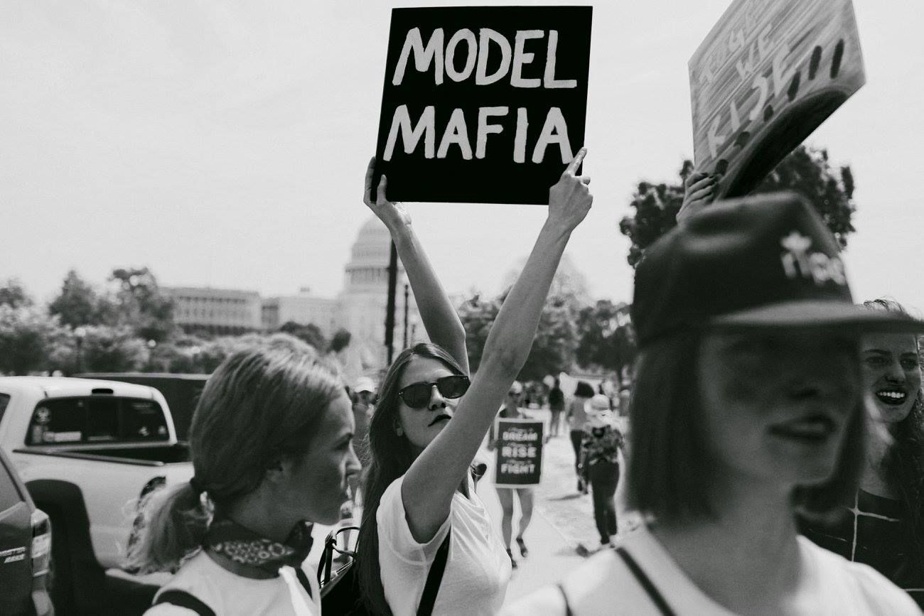 Model Mafia at the People's Climate March / Photo: cameron-russell.com