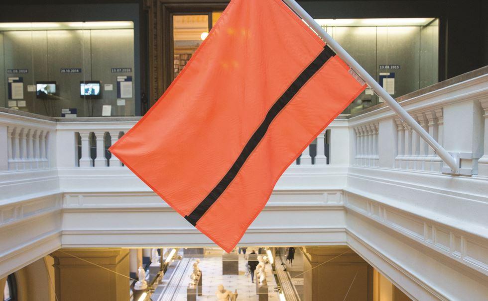 The Refugee Nation Flag / Photo: V&A Museum