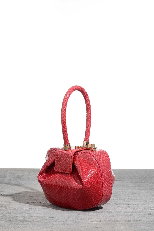 Demi bag in red snake, $2,495, at Net-a-Porter