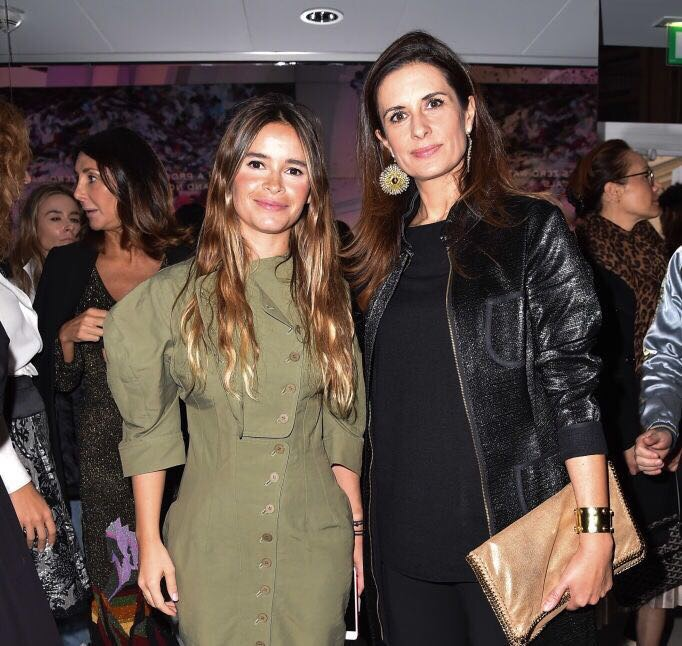 Mira Duma with Eco-Age founder Livia Firth