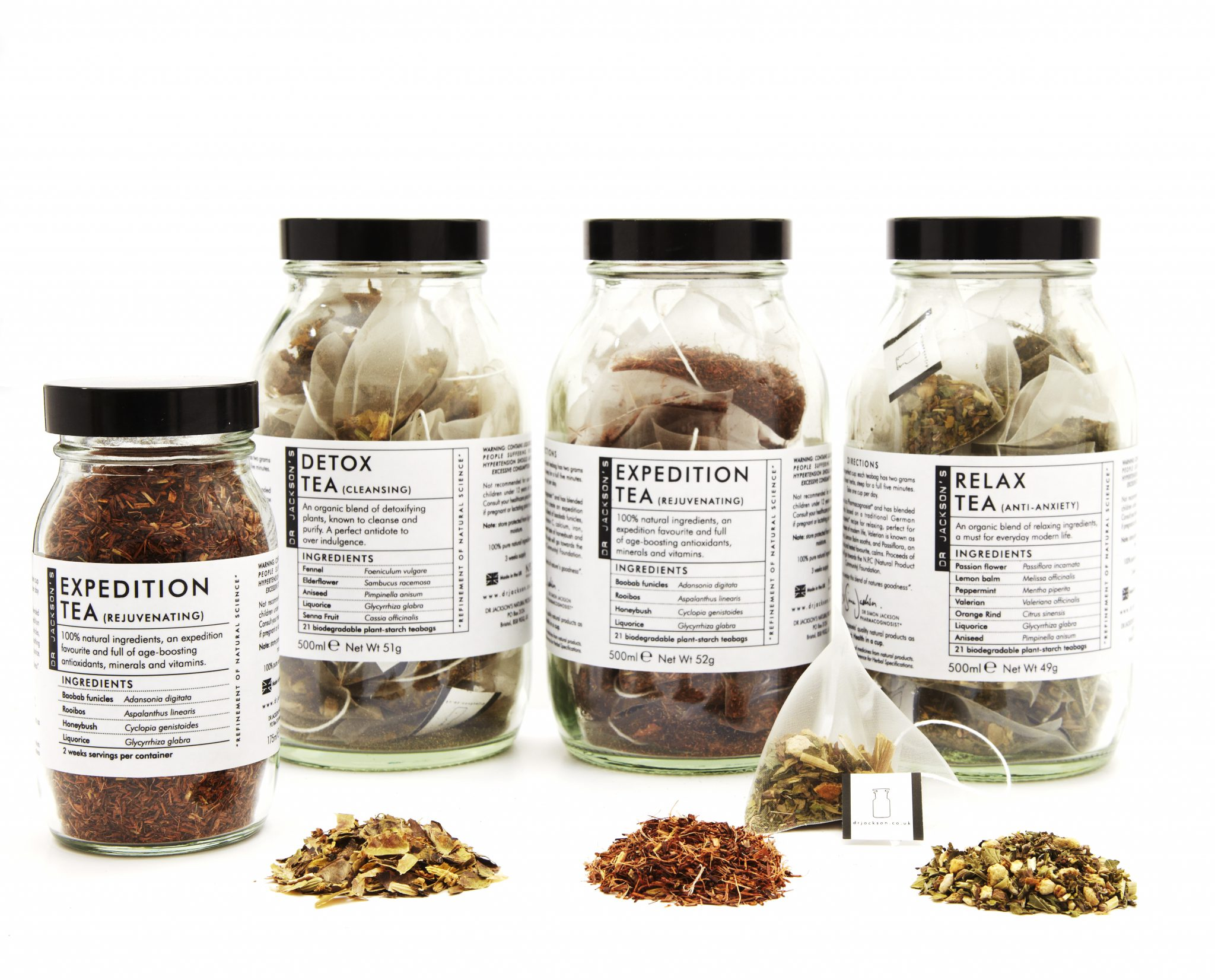 The Dr Jackson's brand now includes a range of organic tea blends.