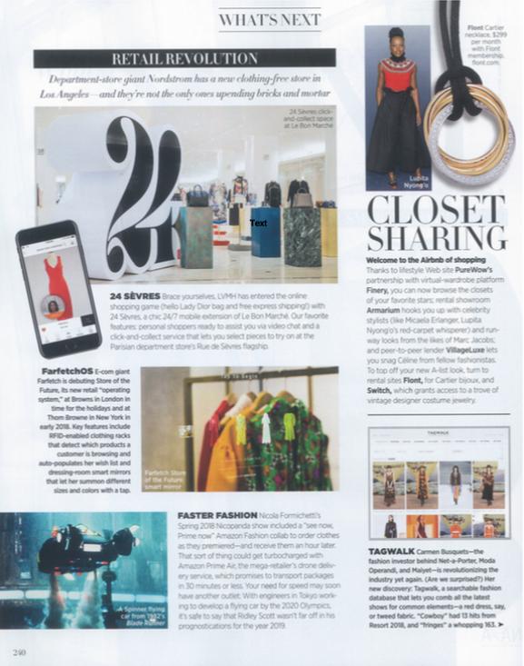 Closet Sharing as featured in Harper's Bazaar's November 2017 issue.