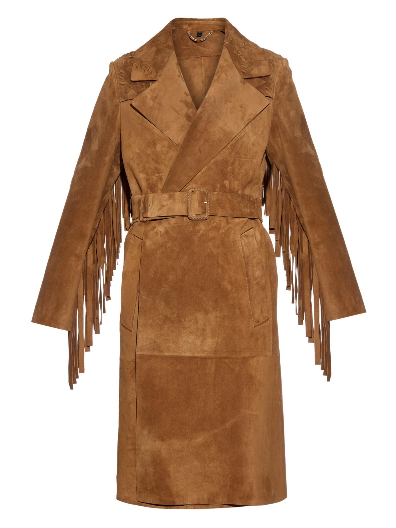 BURBERRY   Prorsum Fringe Suede Coat  Borrow $200 / Retail $4,995