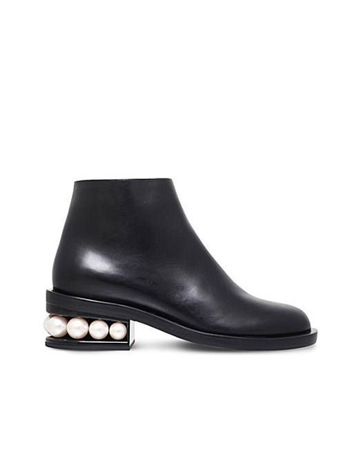 NICHOLAS KIRKWOOD    L eather and Pearl Ankle Boot  Borrow $50 / Retails $980