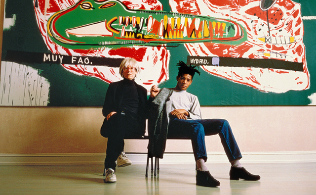 Jean-Michel Basquiat pictured with friend and collaborator Andy Warhol / Photo: Tseng Kwong Chi