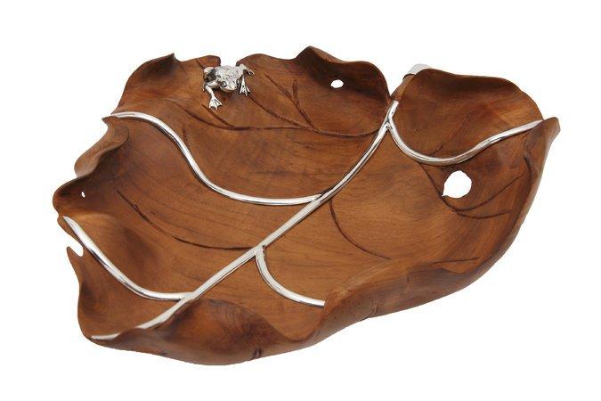 Teak wood tray by Lotus Arts de Vivire.