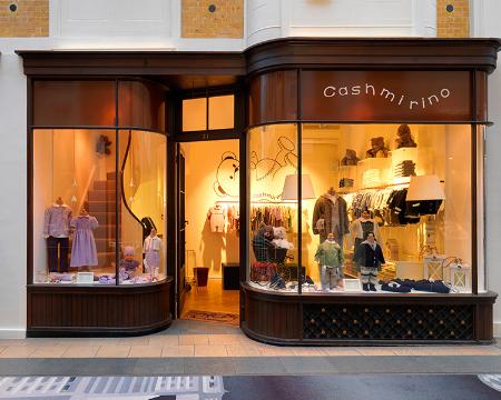 Cashmirino in London's Burlington Arcade.