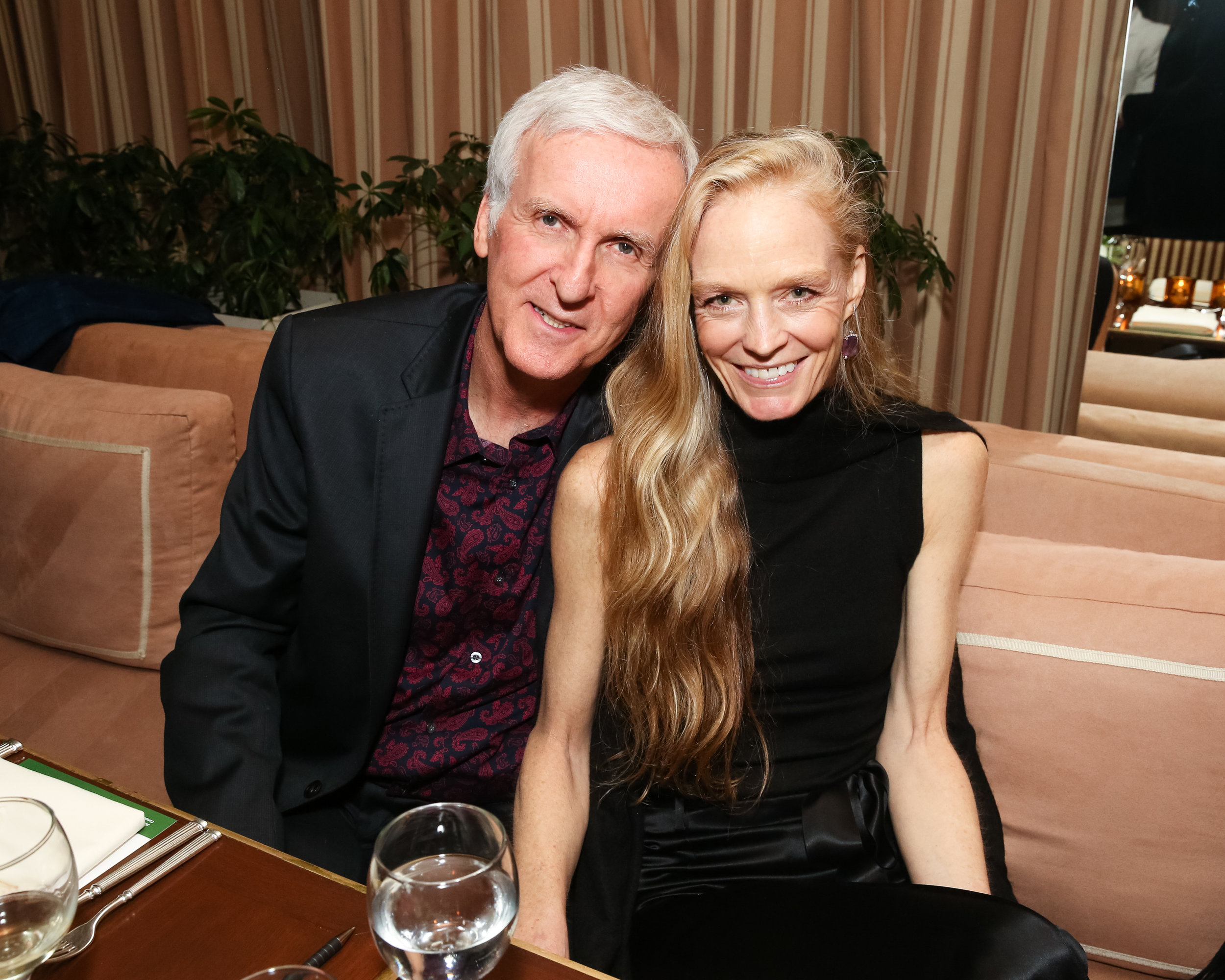 Suzy Amis Cameron pictured with her husband James Cameron.