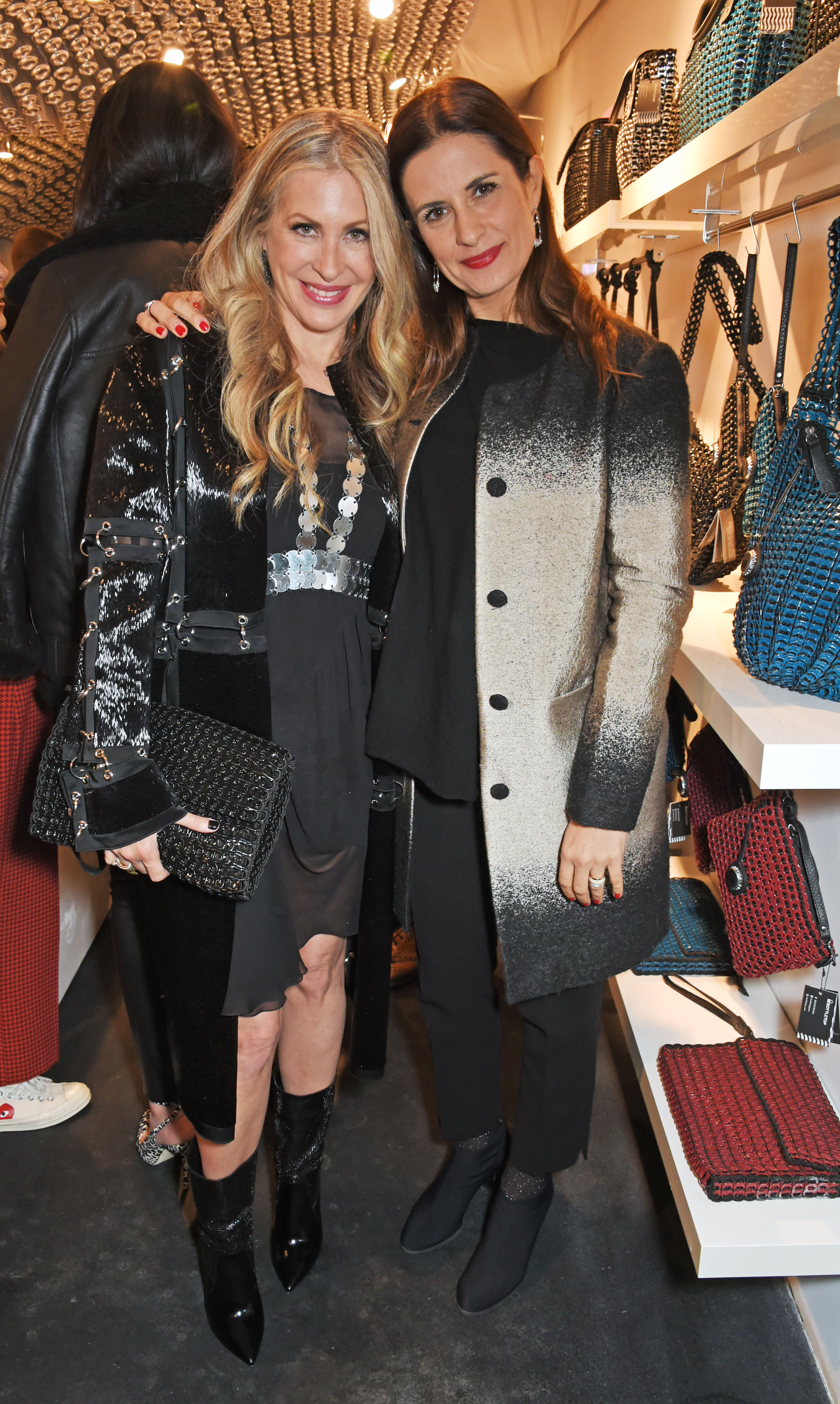 Carmen and Eco-Age founder Livia Firth at the launch of Bottletop's sustainable store in London.