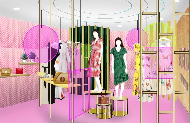 A rendering of MAISON-DE-MODE's pop-up shop at Houston Galleria / Photo: wwd.com
