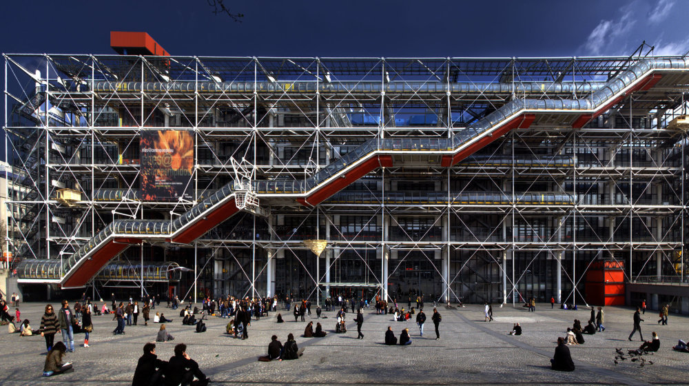 Centre Georges Pompidou, Paris,by Renzo Piano